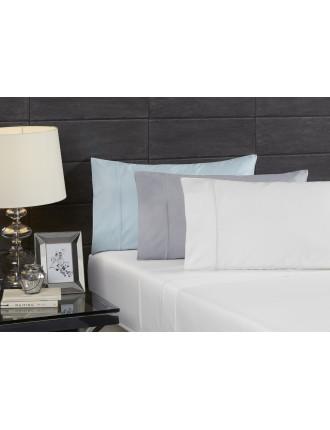 Echelle White King  Single Sheet Set