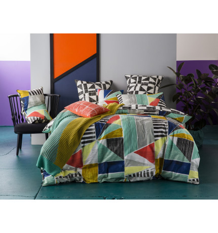 GEOMETRY DOUBLE QUILT COVER SET | David Jones : quilt cover sets david jones - Adamdwight.com