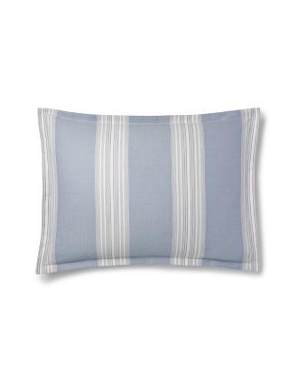 Dune Lane Euro Pillow Case Jamesport Blue 65x65cm