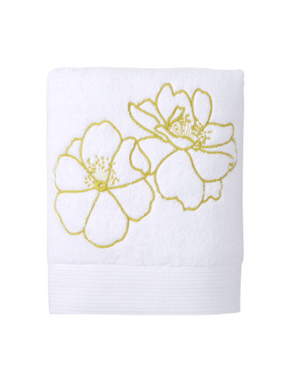 IDYLLE EMBROIDERED BATH TOWEL 70 X 140 cm