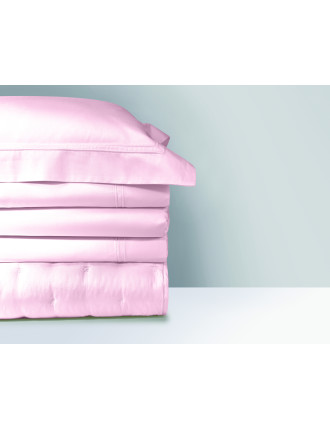 TRIOMPHE BLUSH QUEEN BED FITTED SHEET 152 X 203 cm