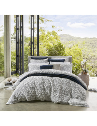 LIANA NAVY QUILT COVER SET - QB