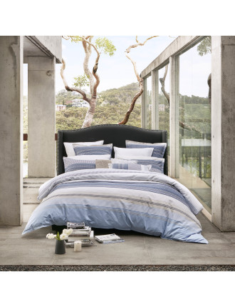 AVOCA CHAMBRAY QUILT COVER SET - QB