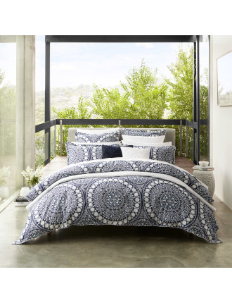 EZRA NAVY QUILT COVER SET - KB