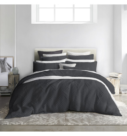 TUX CHARCOAL QUILT COVER SET - QB | David Jones : quilt cover sets david jones - Adamdwight.com