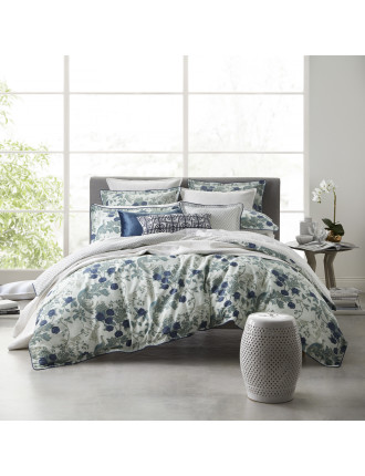 BIRDS OF PARADISE TEAL QUILT COVER SET - KB