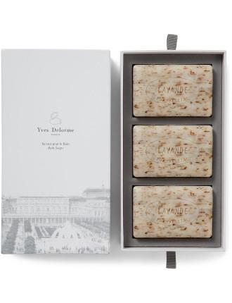 SOAPS FLEURS DE LAVANDE - LAVENDER  (BOX OF 3)