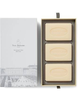 SOAPS FLEURS D'OLIVIER (BOX OF 3)