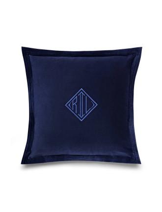 Rl Logo Velvet Cushion 50x50