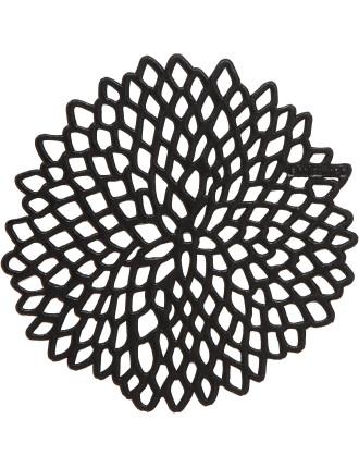 Dahlia Coaster Set Of 6 Black