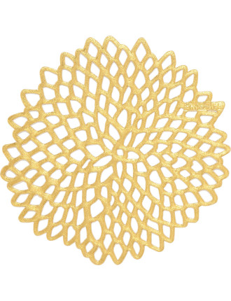 Dahlia Coaster Set Of 6 Gold