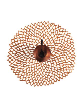 Dahlia Round Placemat Rose Gold