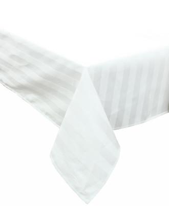 Stripe Damask Tablecloth