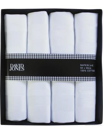 Stripe Damask Napkin Set Of 4