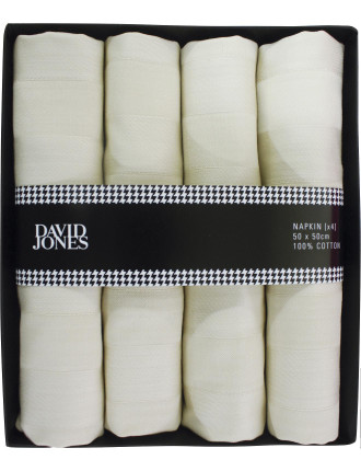 Stripe Damask Napkin Set Of 4