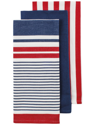 Jamie Woven Tea Towel 3pk