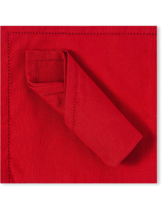 RED HEMSTICH NAPKIN - SET 4