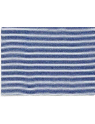 Oxford Stripe Reversable Placemat Set of 4