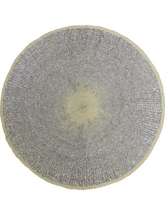 Orbit Glitter Silver Placemat 33cm Dia