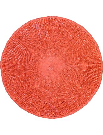 Orbit Glitter Red Placemat 33cm Dia