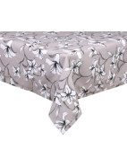 White Lilly Printed Tablecloth 150x260cm $39.95