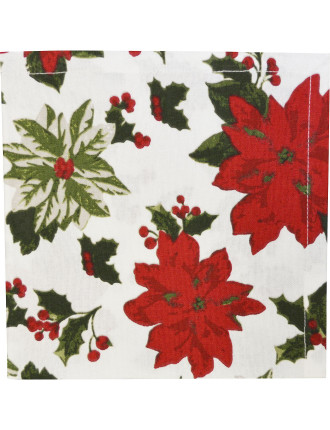 Poinsettia Napkin Set of 4