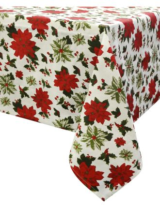 Poinsettia Tablecloth 180x300cm