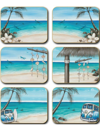 Paddle Bliss Coasters set of six