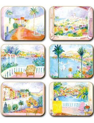 Cote D'Azure Coasters set of six