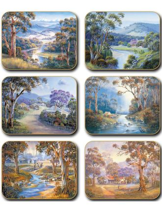Bradley's Streams Coasters set of six