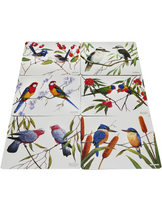 Birds of Australia Eric Shepard Placemats Set Of 6