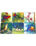Birds of Australia Catherine Castle Coasters Set 6 10.5cm $9.95
