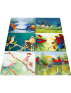 Birds of Australia Katherine Castle Placemats Set 6 34x27cm $29.95