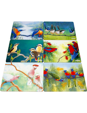 Birds of Australia Katherine Castle Placemats Set 6 34x27cm