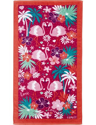 Flamingo Girls Beach Towel