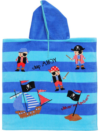 Pirate Boys Poncho Small