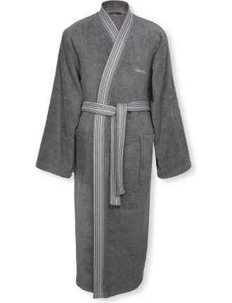 Riviera Charcoal Robe Large