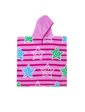 Stars & Stripes Kids Beach Poncho 2-4yrs