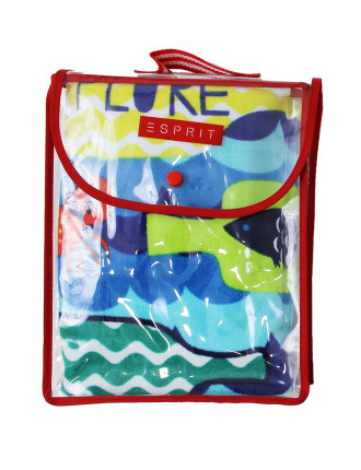 Sail Away Kids Beach Towel With Backpack