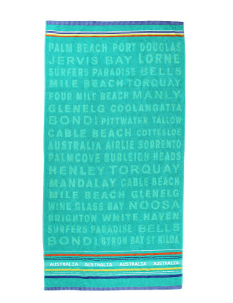 Australian Beaches Beach Towel