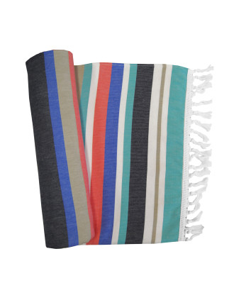 Tunis Stripe Nautical Beach Towel