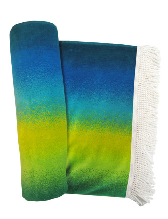 Ombre Chevron Beach Towel
