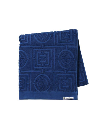 Circles & Squares Queen Bath Towel