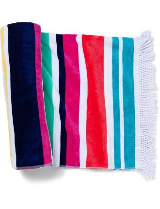Maldive Stripe Beach Towel