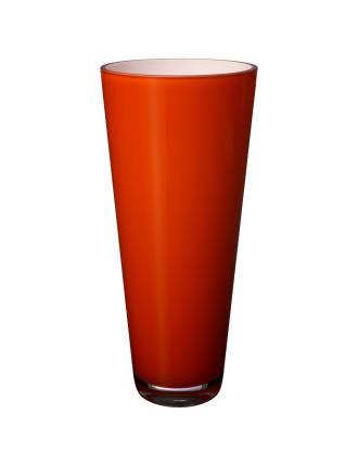 Verso Vase Large Orange Sunset