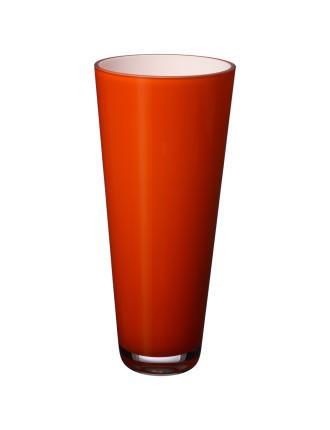 Verso Vase Small Orange Sunset