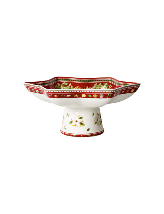 Winter Bakery Delight Footed Star Bowl