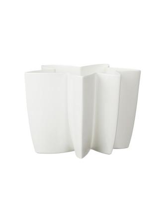 Carambola Vase 20cm White