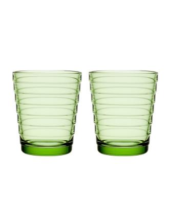 Aino Aalto Tumbler 220ml Apple Green Pair