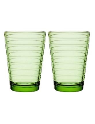Aino Aalto Highball 330ml Apple Green Pair